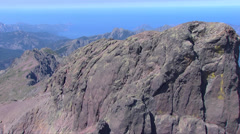 Aerial corsica mountains Stock Footage