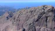 Stock Video Footage of aerial corsica mountains
