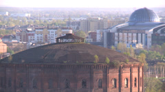 Historic gasworks in Poland (Europe) Stock Footage