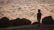 Stock Video Footage of Boy And Sea