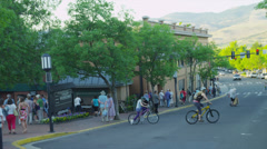 People in Ashland, OR Stock Footage