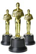 Gold trophys Stock Photos