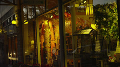 Shop Windows in Ashland, OR, Camera Pan Stock Footage
