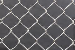 white chain link fence background - stock photo