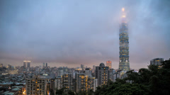 HD sunset time lapse of Taipei, Taiwan Stock Footage