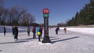 Stock Video Footage of Skaters on the Rideau Canal. #05