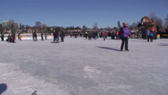 Stock Video Footage of Skaters on the Rideau Canal. #13
