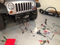 Jeep Wrangler Bumper 2013 - stock photo