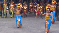 Young balinese Dancer. - stock footage