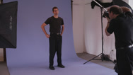 Male Model Photo Shoot Stock Footage