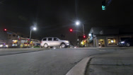 Stock Video Footage of pacific ave, venice, ca night time street corner