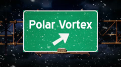 Polar Vortex Graphic 4004 Stock Footage
