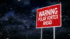 Polar Vortex Graphic 4003 Stock Footage