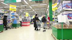 Wholesale shopping center with customers - stock footage
