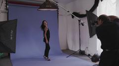 Brunette Model Calls for Makeup Stock Footage