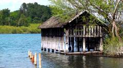 0625  Villarrica lake, Chile Stock Footage