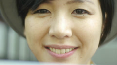 Close Up Of A Pretty Young Asian Woman Stock Footage