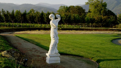 Marble Statue of Woman, Zoom In Stock Footage