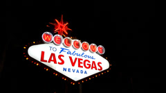 Welcome to las vegas sign Stock Footage
