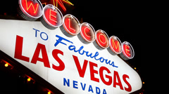 welcome to las vegas sign - stock footage