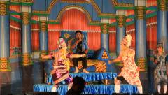 Thai traditional dramatic perform on stage Stock Footage