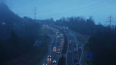 Puidoux traffic timelapse in Switzerland Stock Footage
