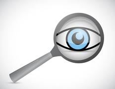 Magnify surveillance illustration design Stock Illustration