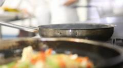 Stir Fry Flambé With Audio - stock footage