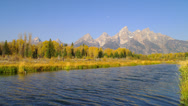 Stock Video Footage of Blue River in Grand Tetons, Wyoming