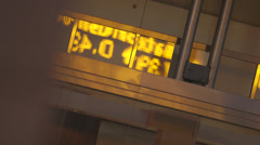 Stock Ticker reflection - Abstract Stock Footage