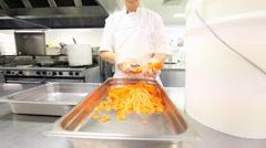 Peeling Carrots - stock footage