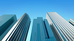Modern glass office buildings Stock Footage