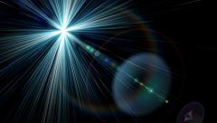 Glow art halo.Color fashion stars space universe ray.Abstract stage light. Stock Footage