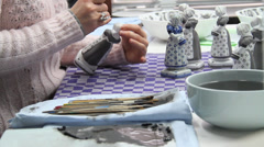 Delft Hand Painter Stock Footage