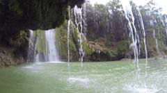 El Limone under and inside falls POV Stock Footage