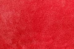 soft red micro fleece blanket background - stock photo