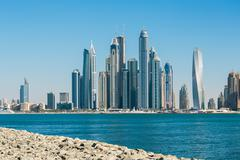 Stock Photo of general view of the dubai marina uae