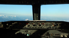 Airplane flying over the clouds Stock Footage