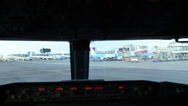 Stock Video Footage of Airplane taxiing on airport