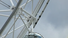 Close-up view of London Eye capsule with passengers, UK, London Stock Footage