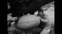 WW2 - US Air Force - Aircraft Maintenance 02 Stock Footage