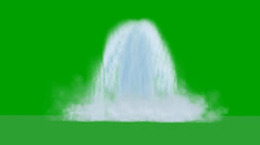 Large  waterfall on green screen with splashes of water Stock Footage