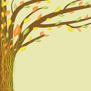 Abstract tree of life. Vector illustration in soft colors - stock illustration