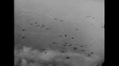 WW2 - US Air Force - Bomber Attack 01 Stock Footage
