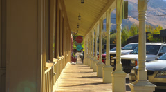 Columned Shopping Mall Stock Footage