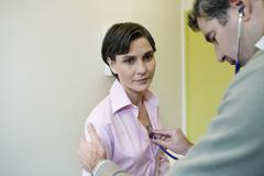 Stock Photo of auscultation, woman