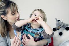 Homeopathy, child Stock Photos