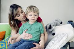 Abdominal pain in a child Stock Photos