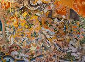 Stock Photo of thai mural painting
