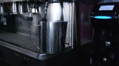Preparation of espresso coffee Stock Footage